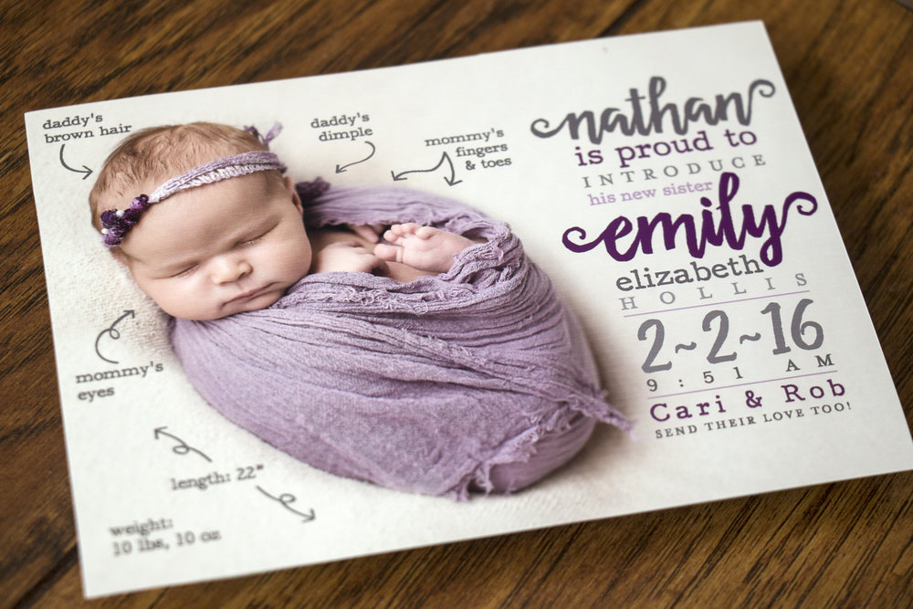 Emily's Birth Announcement