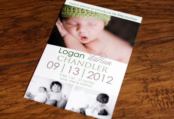Logan's Birth Announcement