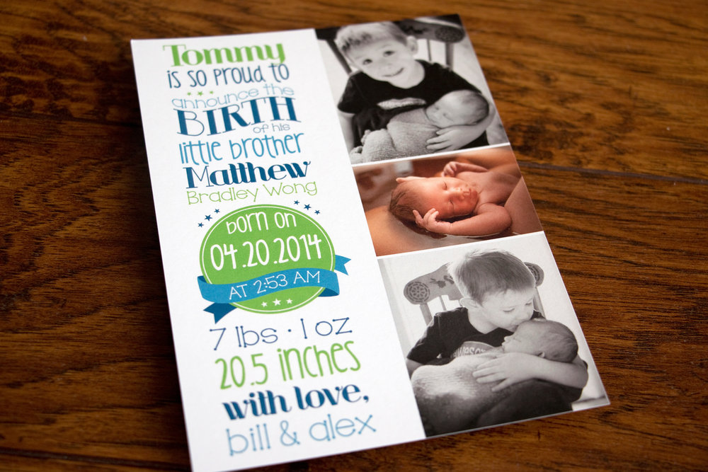 Matthew's Birth Announcement