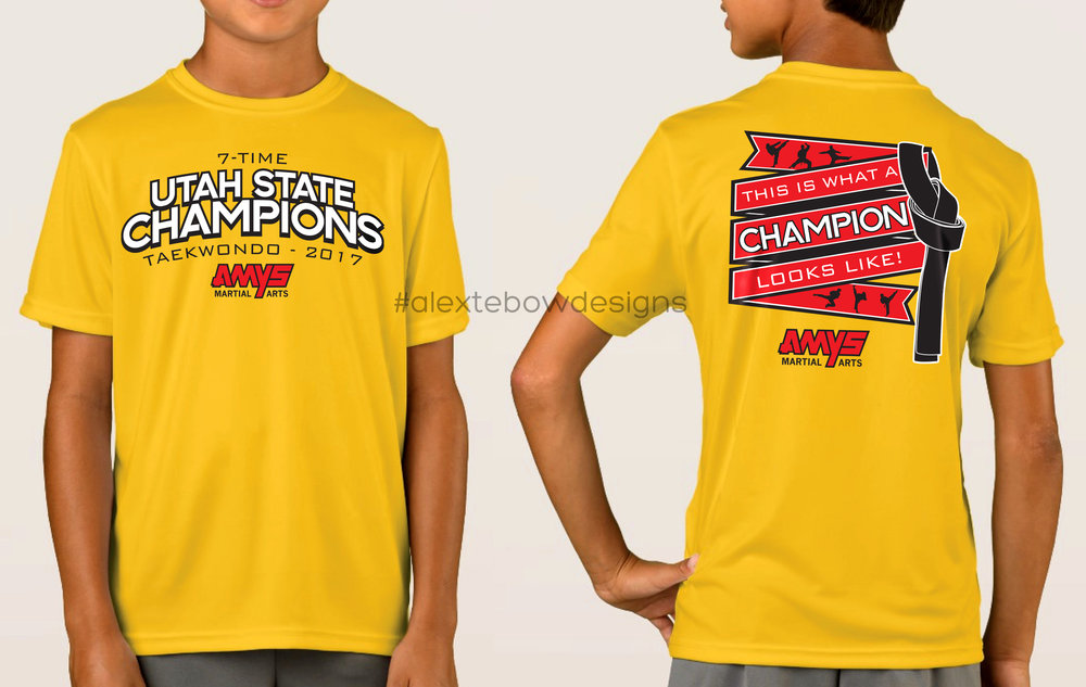 AMYS Martial Arts State Champs Tee 2017