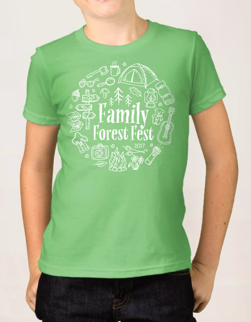 Family Forest Fest Kids Tee
