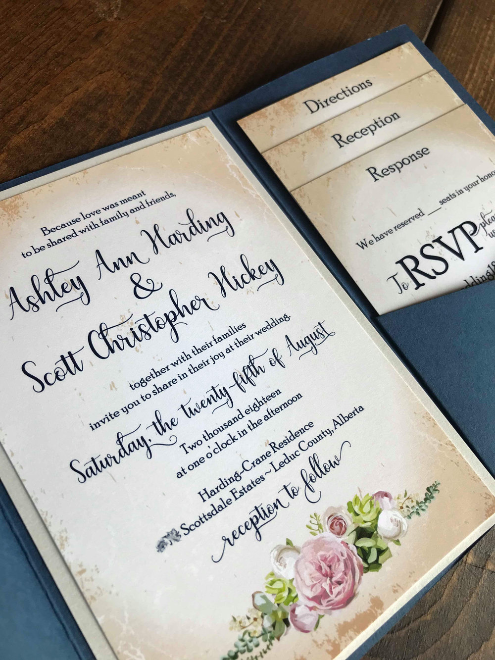 Custom Wedding Invitation Alex Tebow Designs