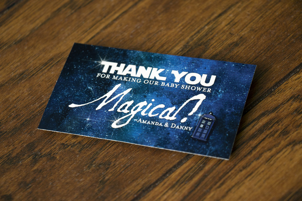 Star Wars, Harry Potter, Dr. Who Baby Shower