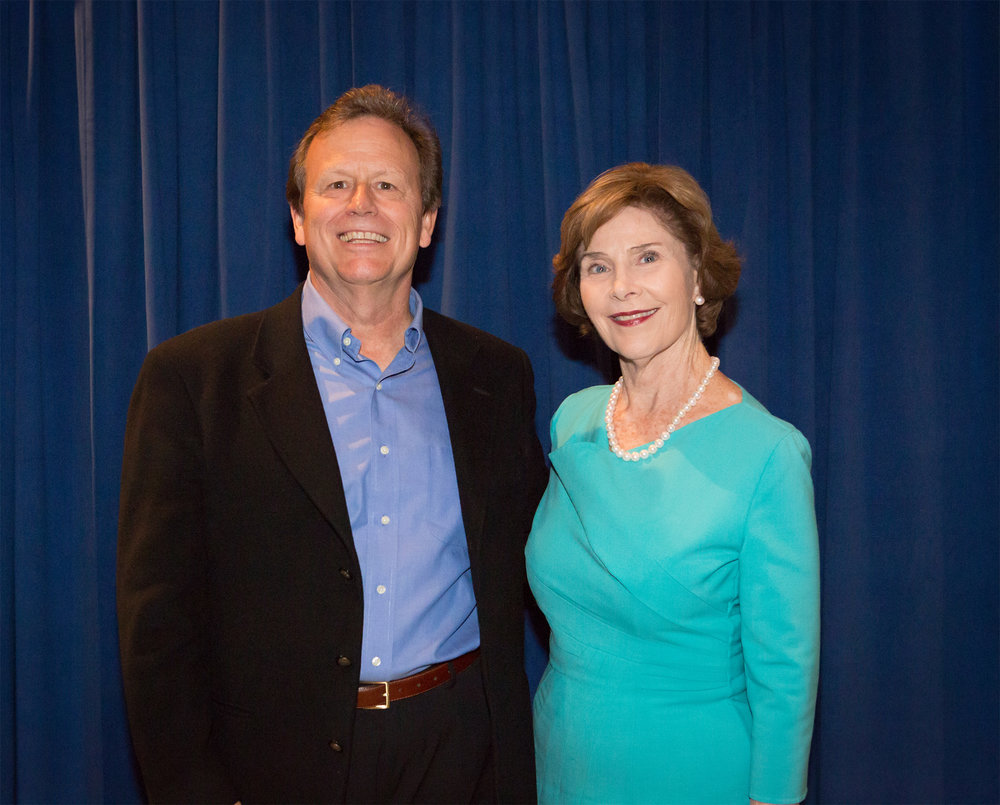 Brad Haga with Laura-Bush-2017.jpg