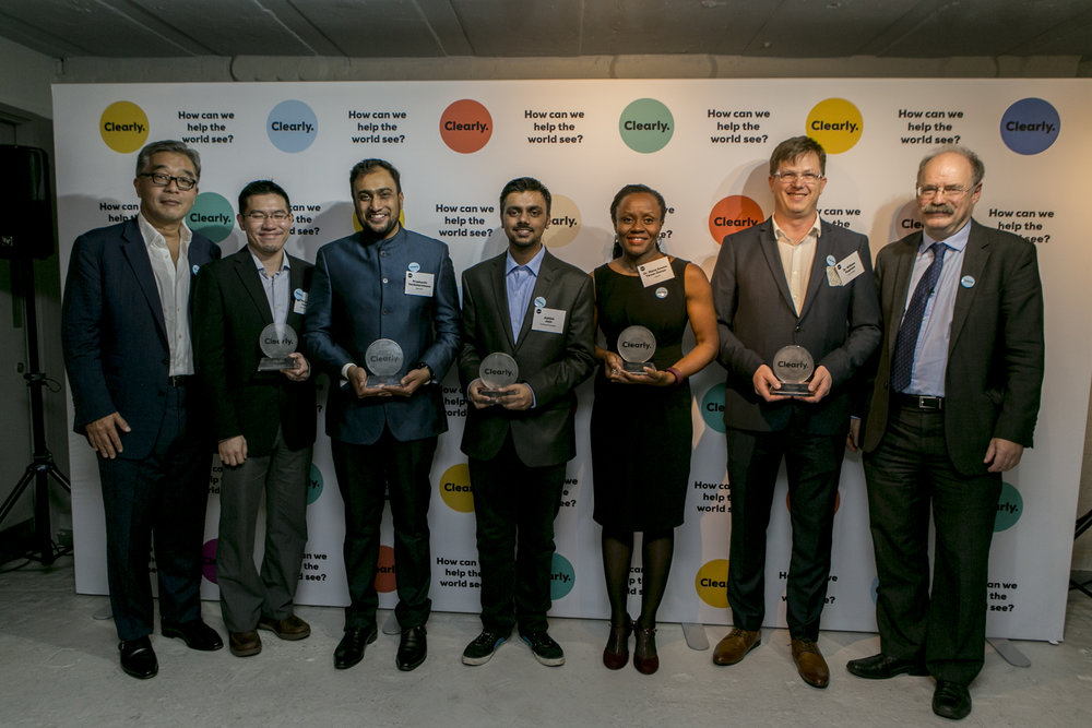 Clearly Vision Award finalists during the award ceremony_ October 2016, London.