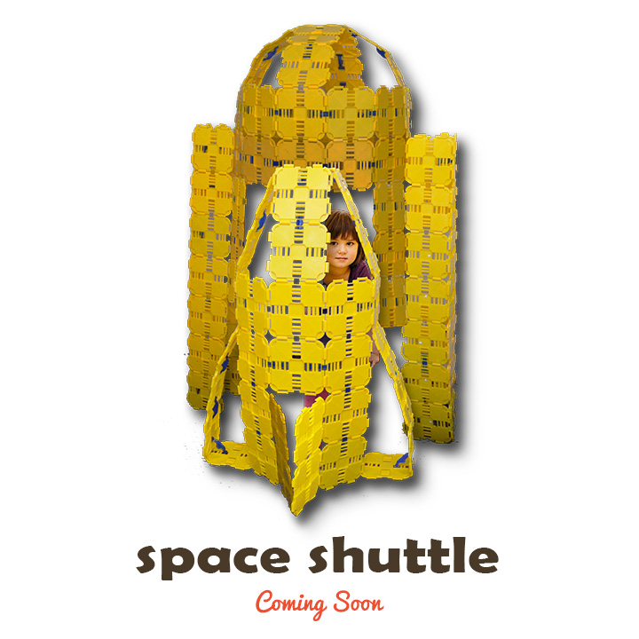 space shuttle kids play fort