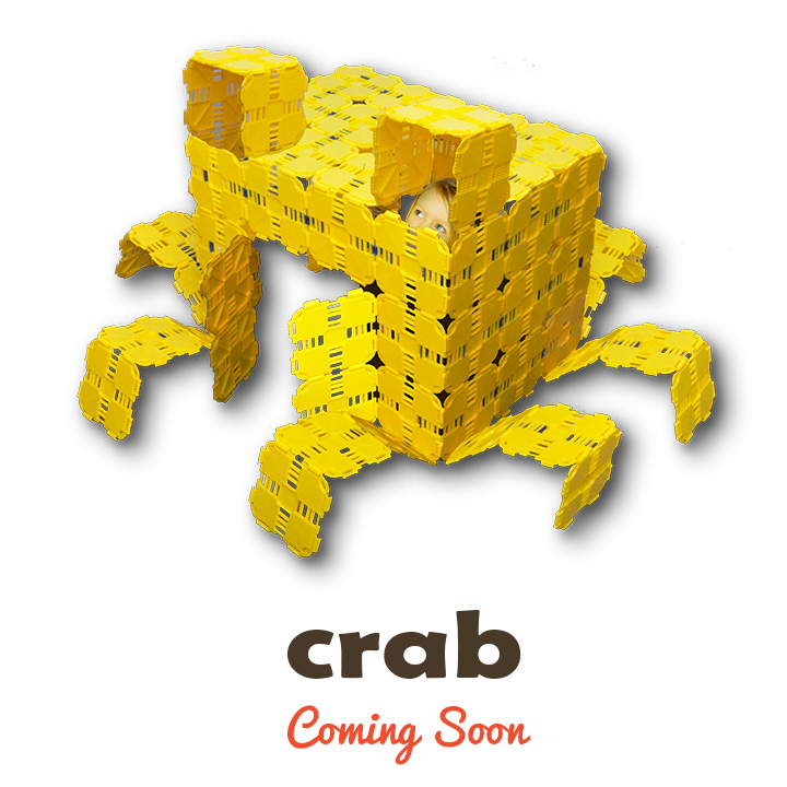 crab kids play fort