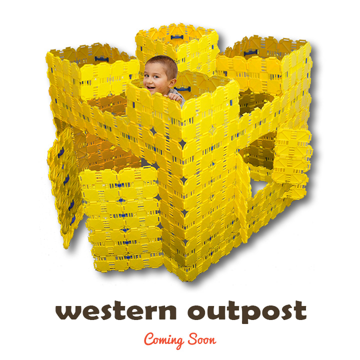 western outpost kids play fort