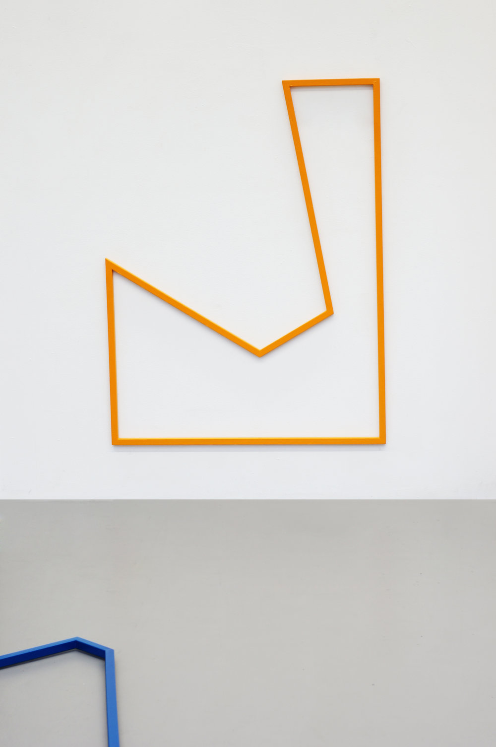 PLAYGROUND YELLOW  2015 // 170cm x 130cm  steel and varnish