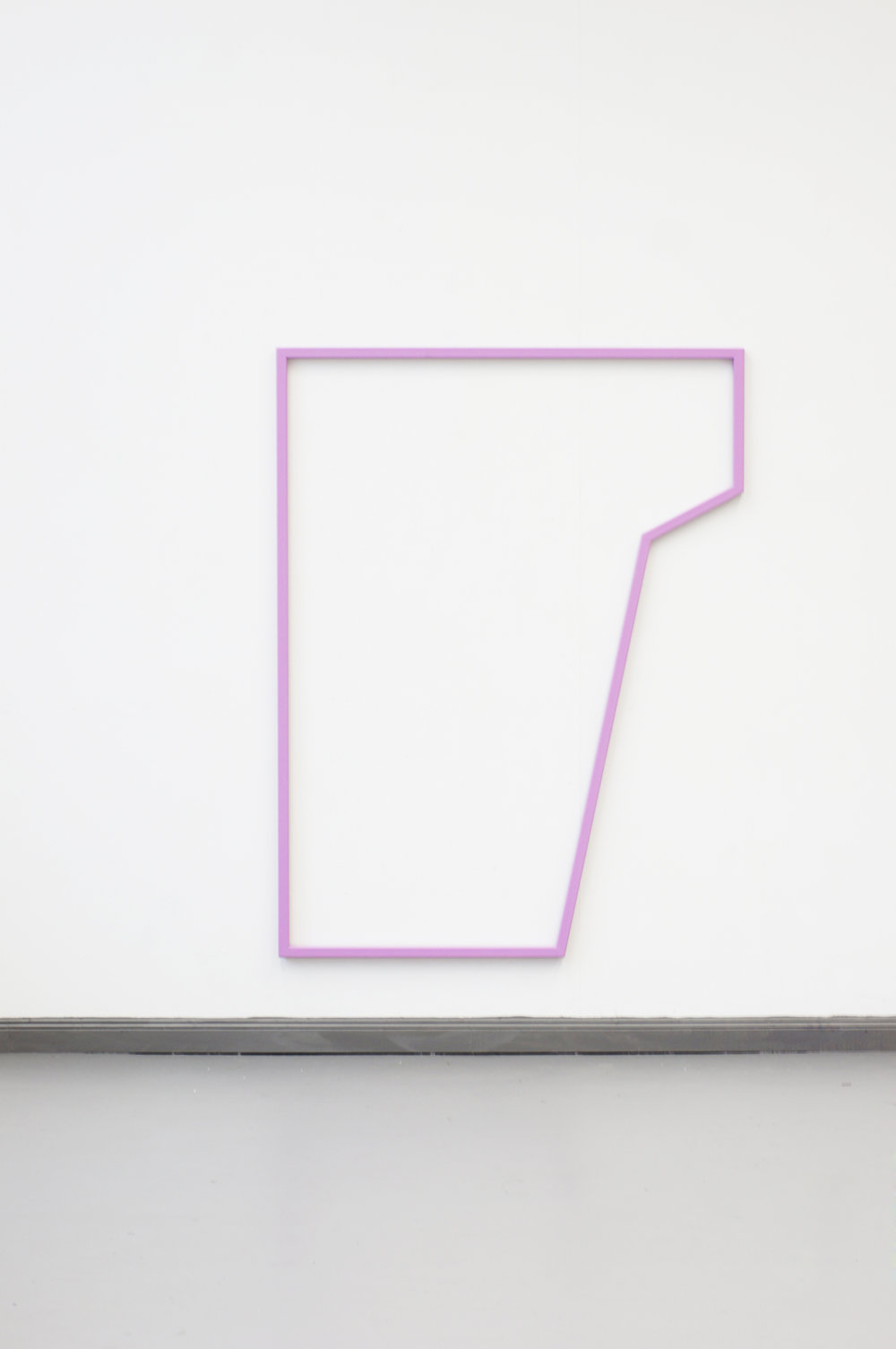 PLAYGROUND PURPLE  2015 // 170cm x 130cm  steel and varnish