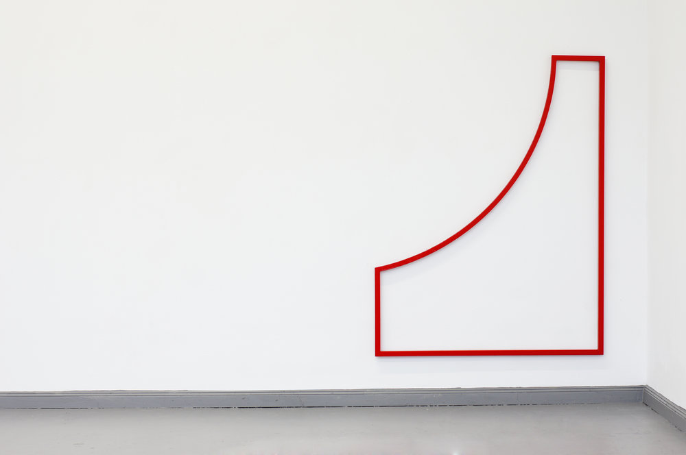 PLAYGROUND RED  2015 // 170cm x 130cm  steel and varnish
