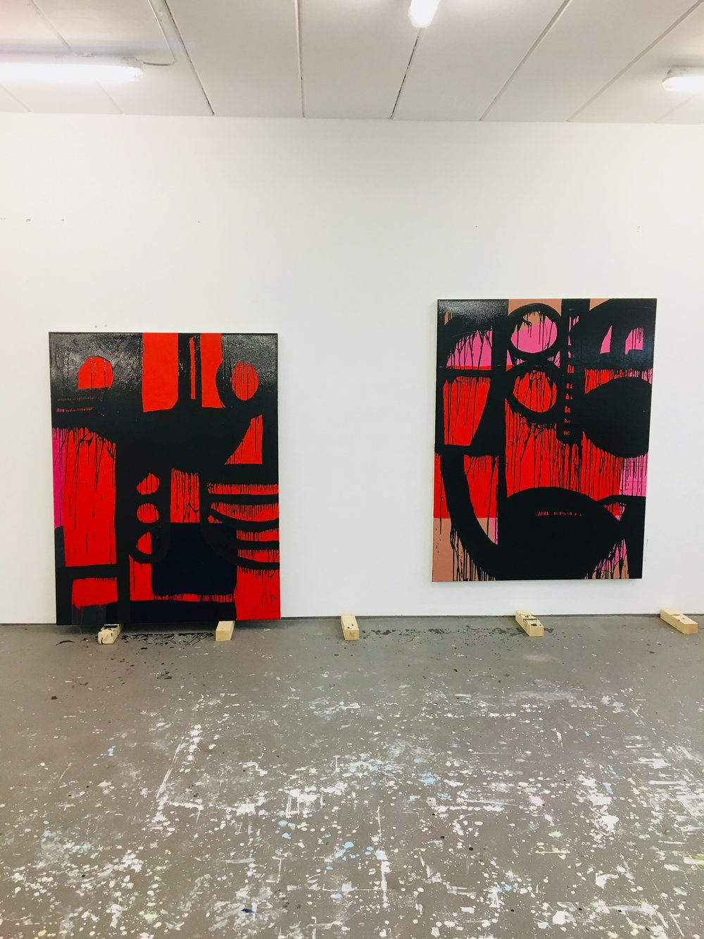 MID CASE GREY  2018 // each 170cm x 130cm  acrylic and varnish on canvas