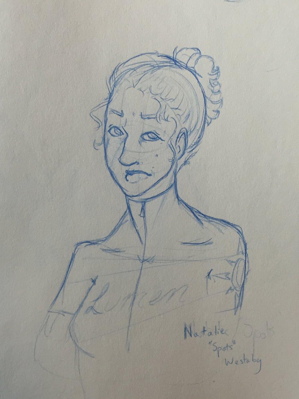 Cartoon self-portrait