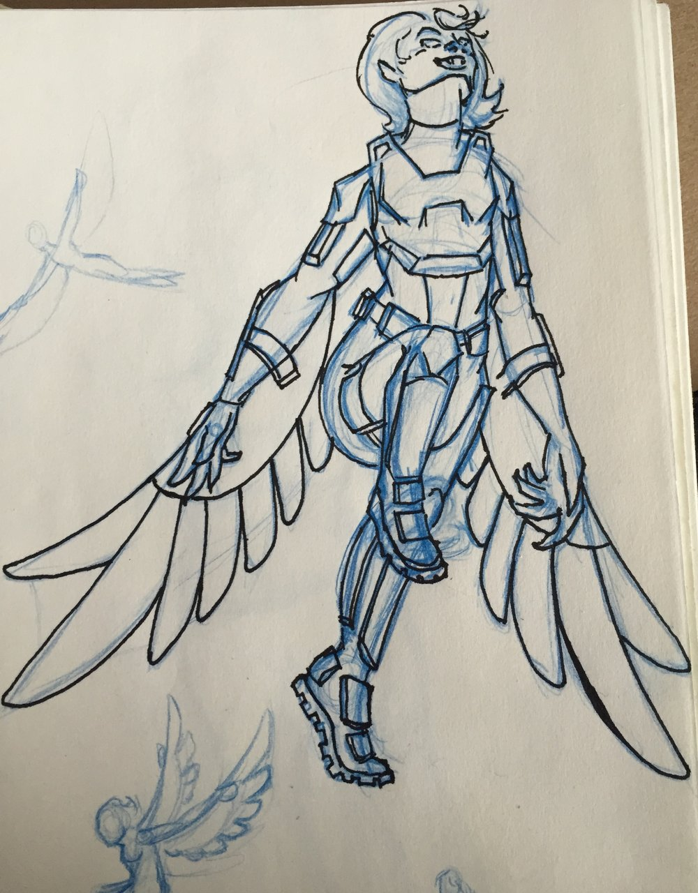 Flight armor concept (inspired by The Falcon)