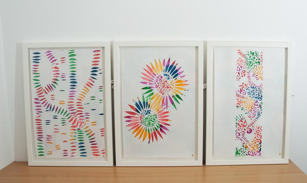 Colour Explosion Framed Artwork