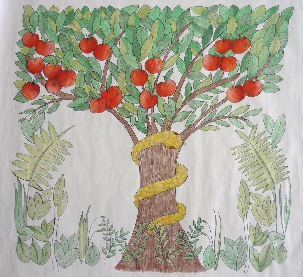 Adam & Eve scarf design 008.JPG