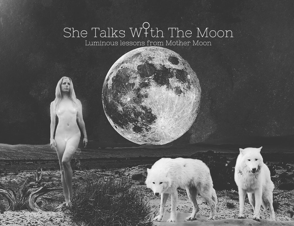 She talks with the moon - Moon Wisdom