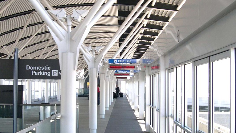 SFO AIRTRAIN DOMESTIC TERMINALS STATIONS
