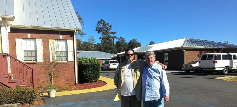 Jason McClury and Gary at The Shoulder new facility
