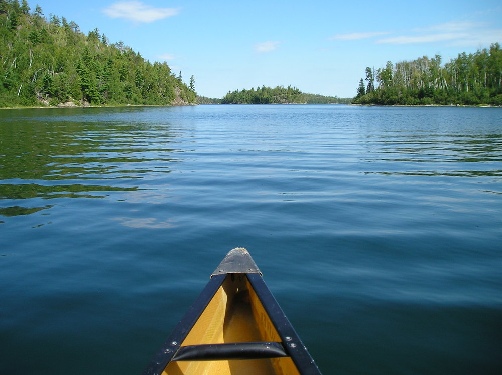 Open water paddeling, Boundary Waters Canoe Area