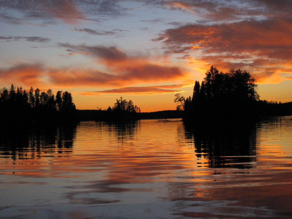 Sunset over Lake Nydia, Ontario, Canada