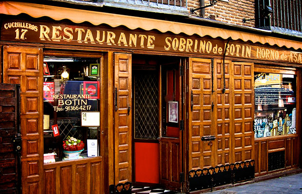 The authentic Sobrino de Botín in Madrid.