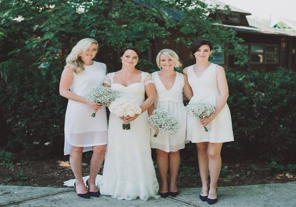 Toronto Island Wedding Bridal Party.
