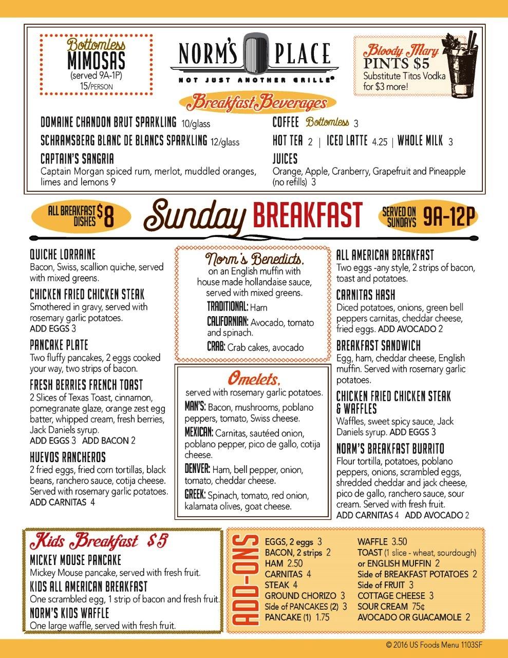 Norm's Place Danville Breakfast
