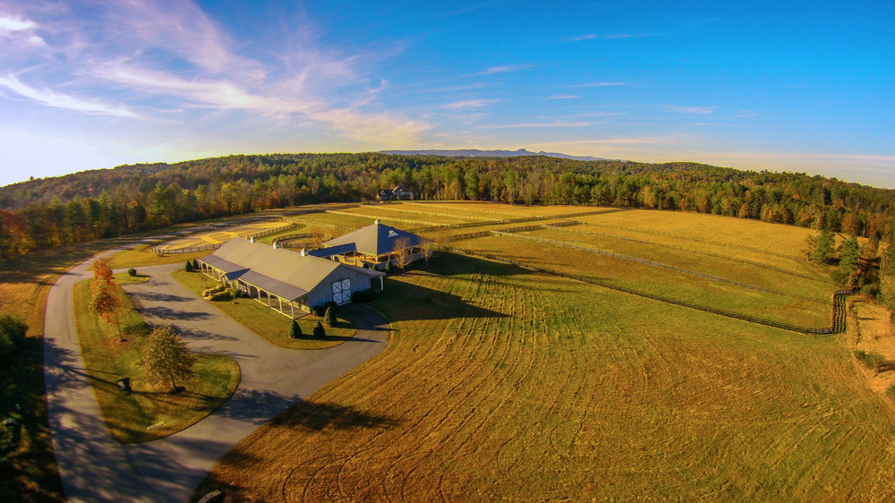 Aerial view of the Catawba River Club Stables
