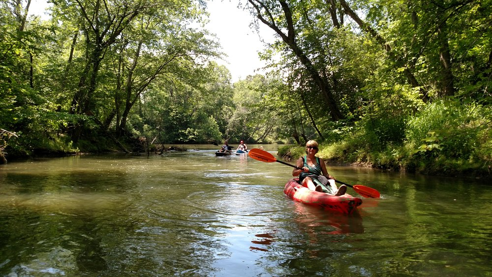 Residents enjoying the Catawba River.