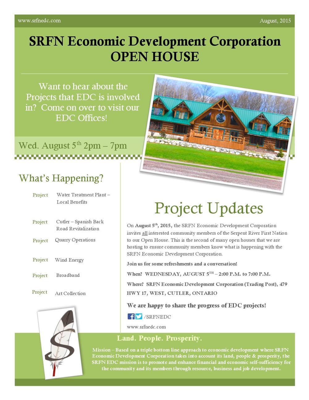 SRFNEDC August 5 Open House