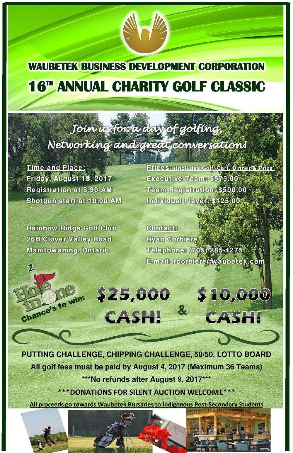 Waubetek Golf Tournament