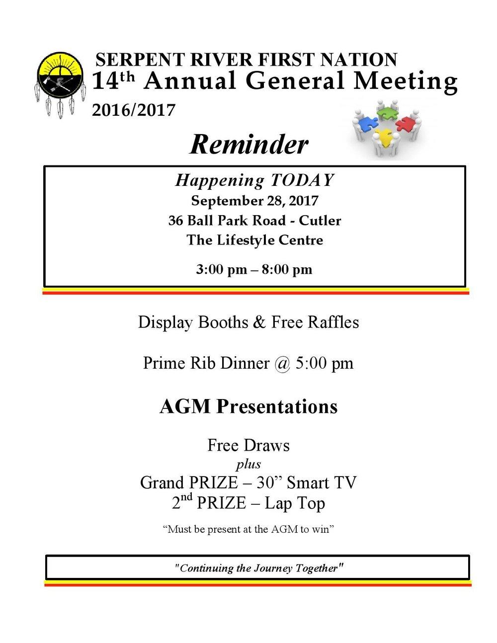 AGM Reminder Poster