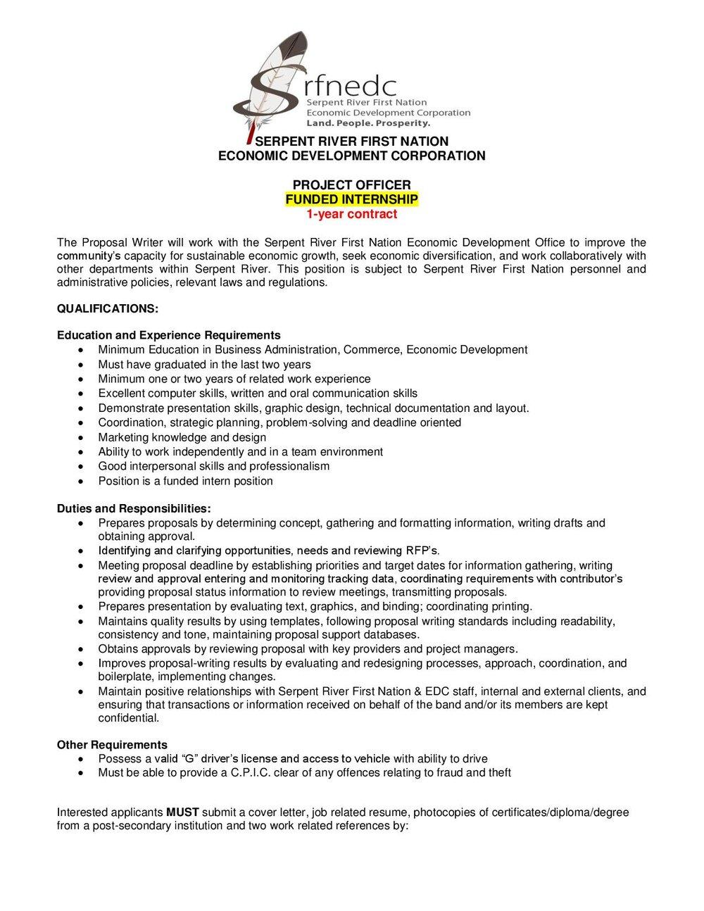 Project Officer - SRFNEDC JOB POSTING 2019-page-001.jpg