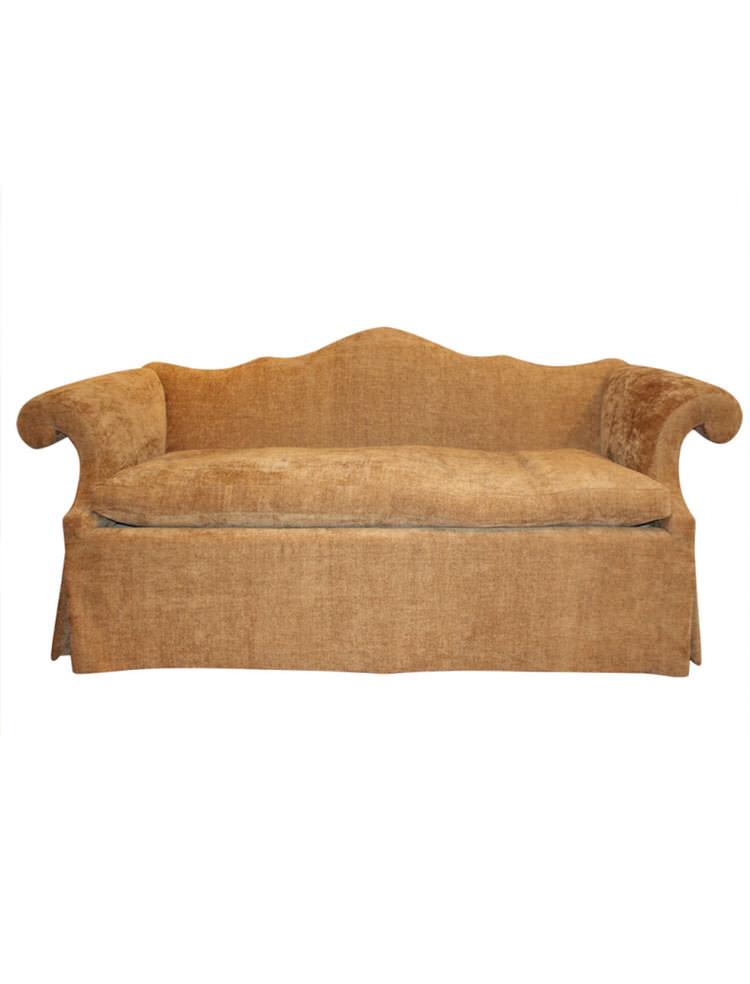 Chippendale Camel Back Sofa