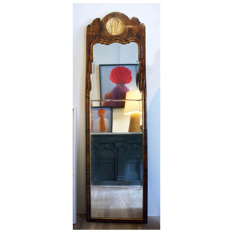 Queen Anne Walnut Mirror. 1583_Queen Anne Mirror_Site