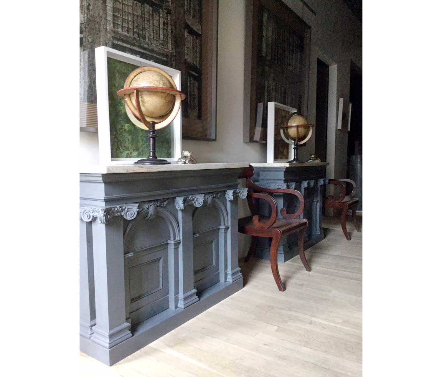 Beau Pair Of Architectural Cabinets