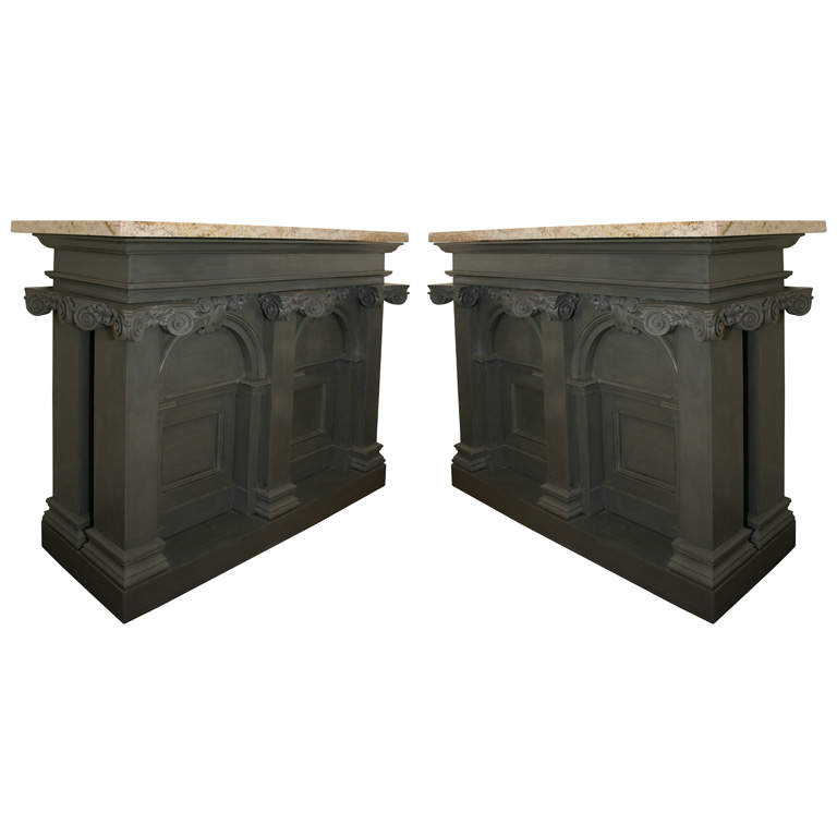 Gentil Pair Of Architectural Cabinets