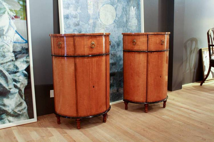 Pair Of Demilune Cabinets