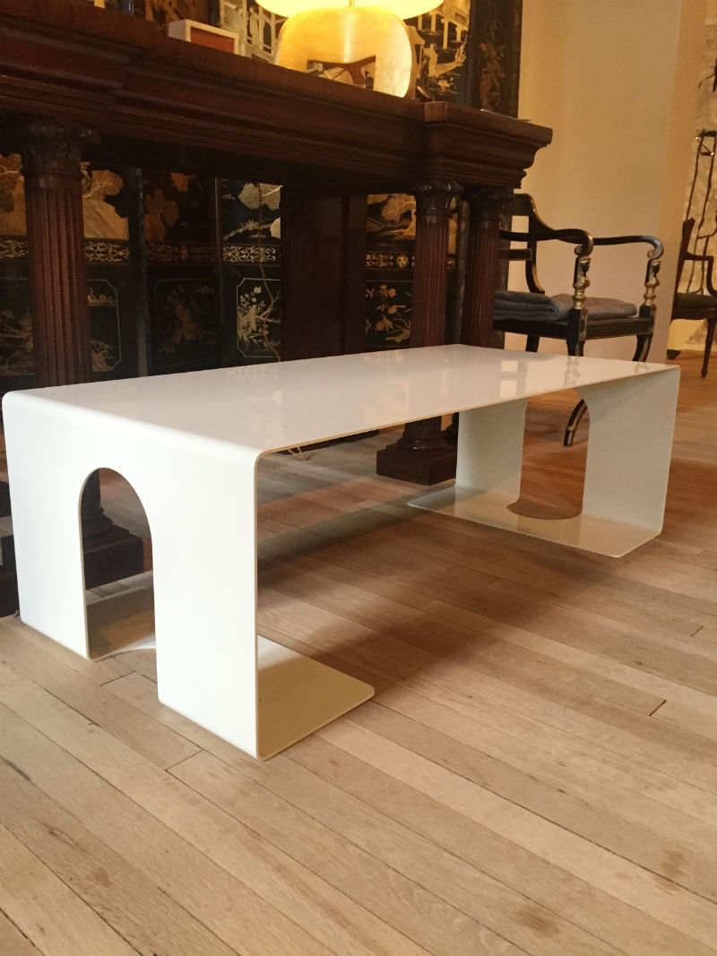 Cream Lacquered Low Table