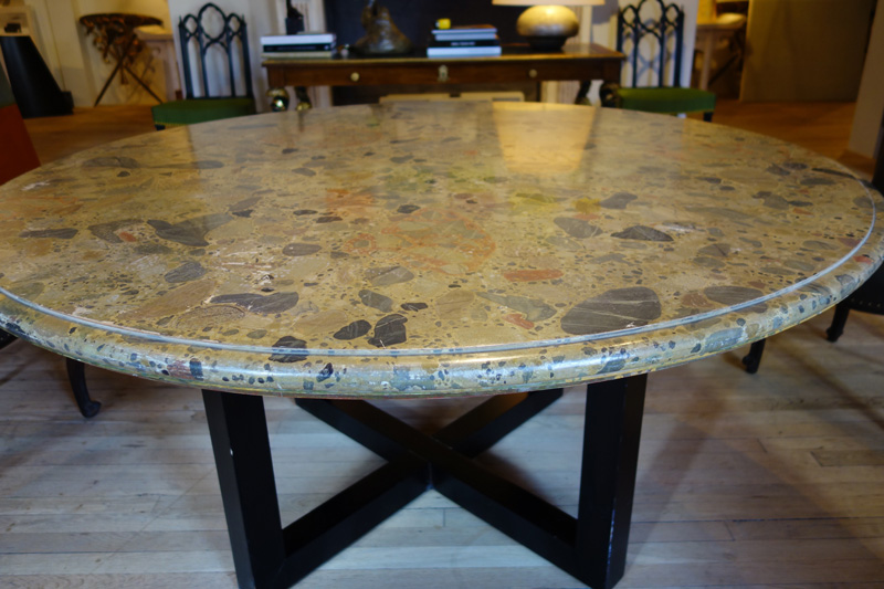 Faux Marble Center Table