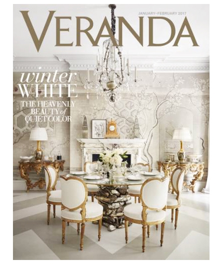 Eve Kaplan Ceramic Table as seen on Jan/Feb 2017 cover of Veranda.