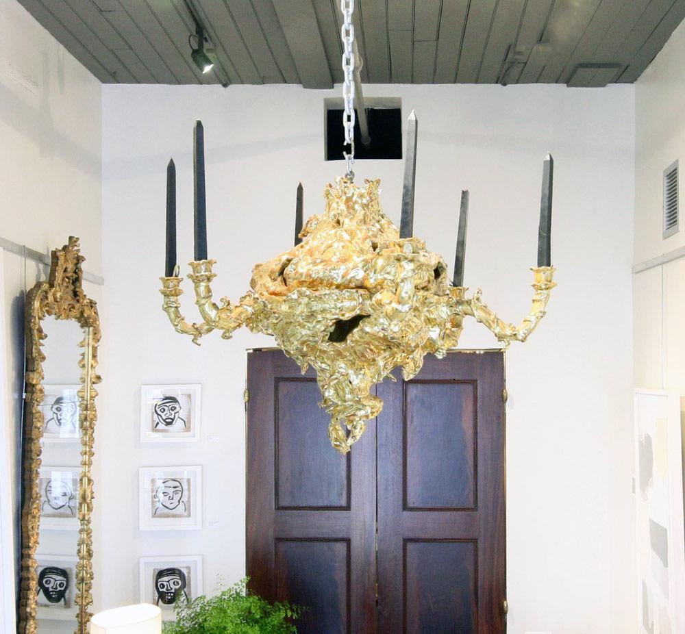 Gilded ceramic chandelier gerald bland gilded ceramic chandelier arubaitofo Choice Image