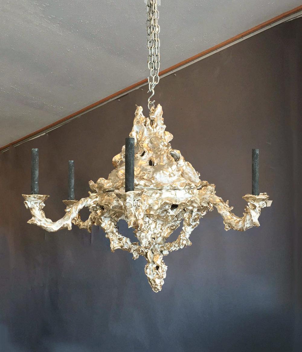 Gilded glazed ceramic chandelier gerald bland gilded glazed ceramic chandelier arubaitofo Image collections