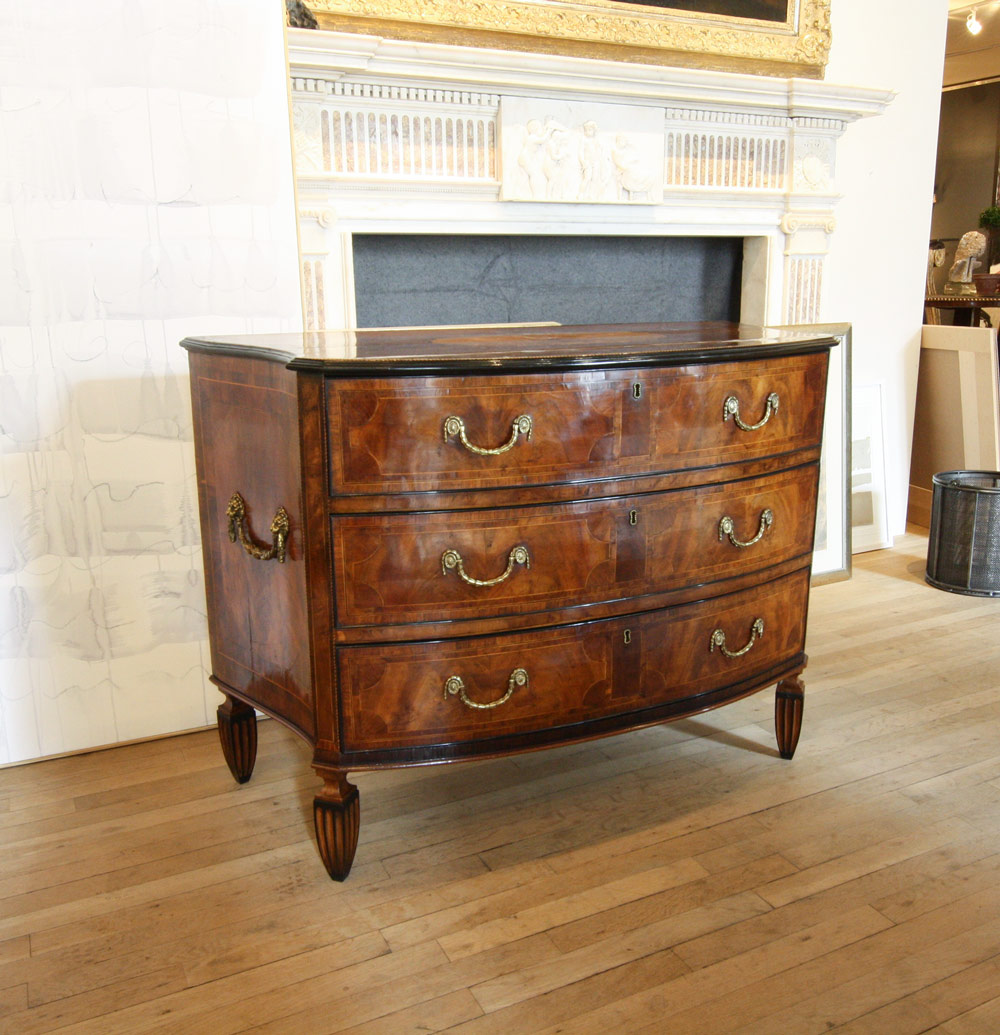 Neoclassical Bow Front Commode Gerald Bland