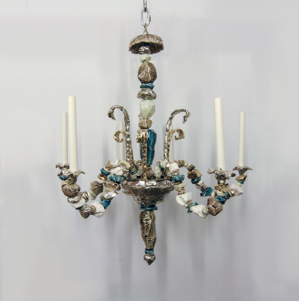 Ceramic chandelier by eve kaplan gerald bland ceramic chandelier by eve kaplan arubaitofo Image collections