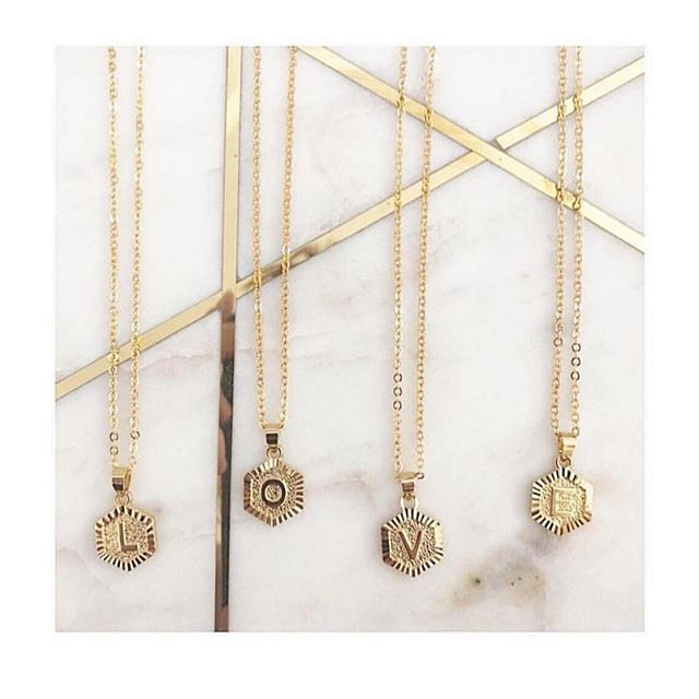WE ❤️ YOU! Take $10 off our [Initial Layering Necklaces] using promo code LOVE! 💗❤️ •$12 today and tomorrow only•