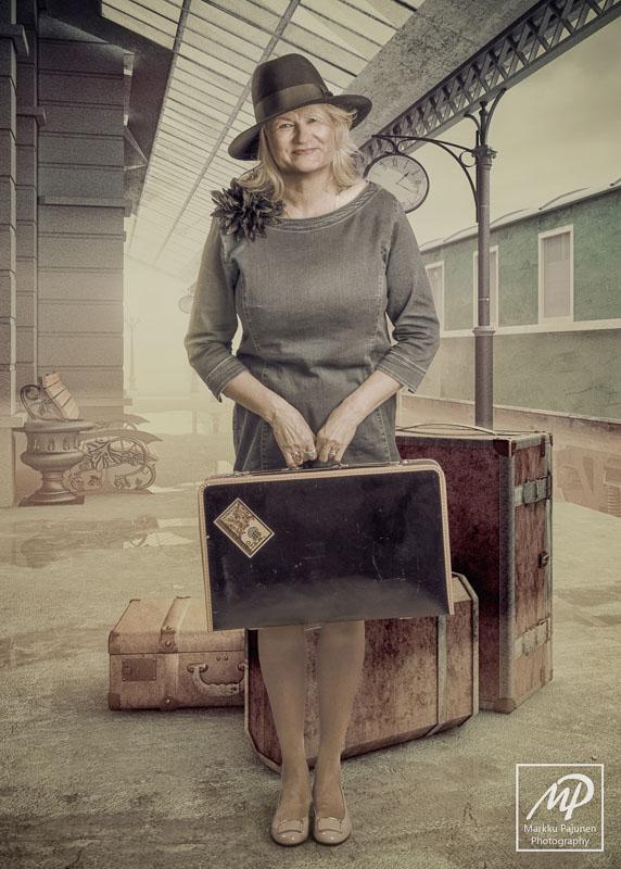 Henkilökuva muotokuva matkustaja