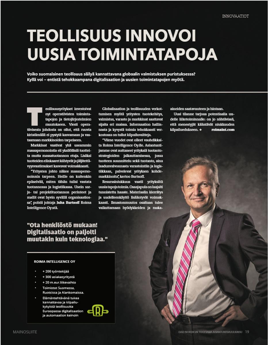 Mainoksen tehnyt GSD Nordic