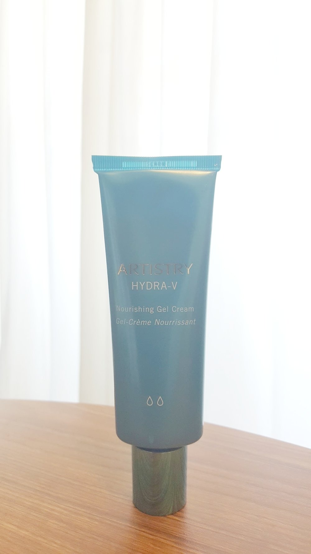 For my face I use the Artistry Hydra-V Nourishing Gel Cream. This is both light and moisturizing.  It's not oily and keeps my skin smoothed and feeling well balanced.